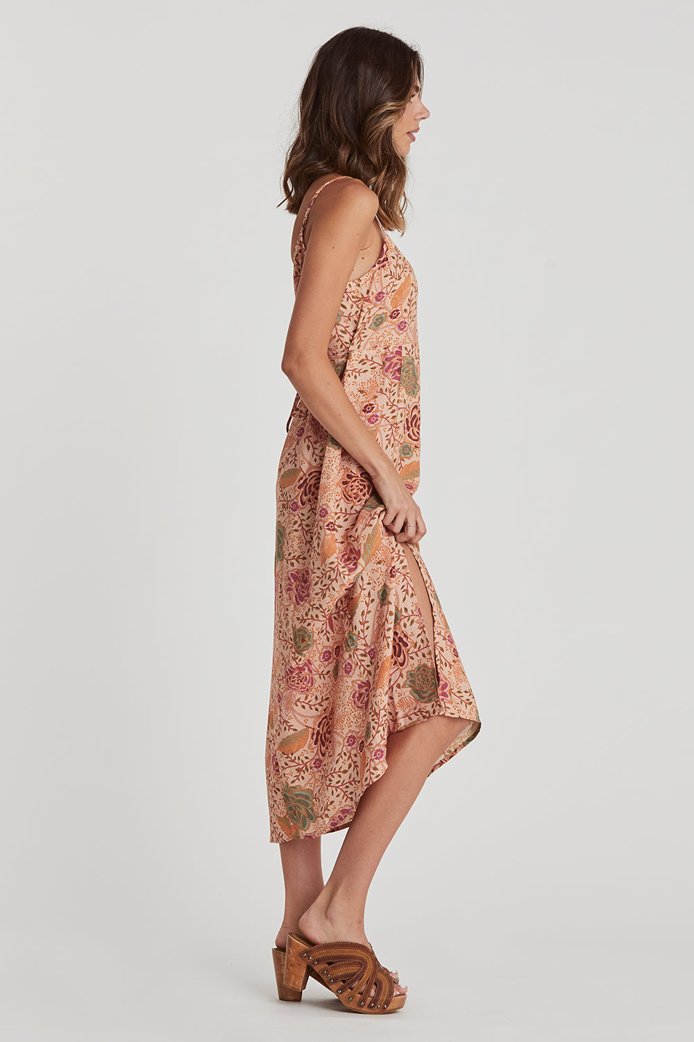 Leilani Slip Dress in Jungle Sands