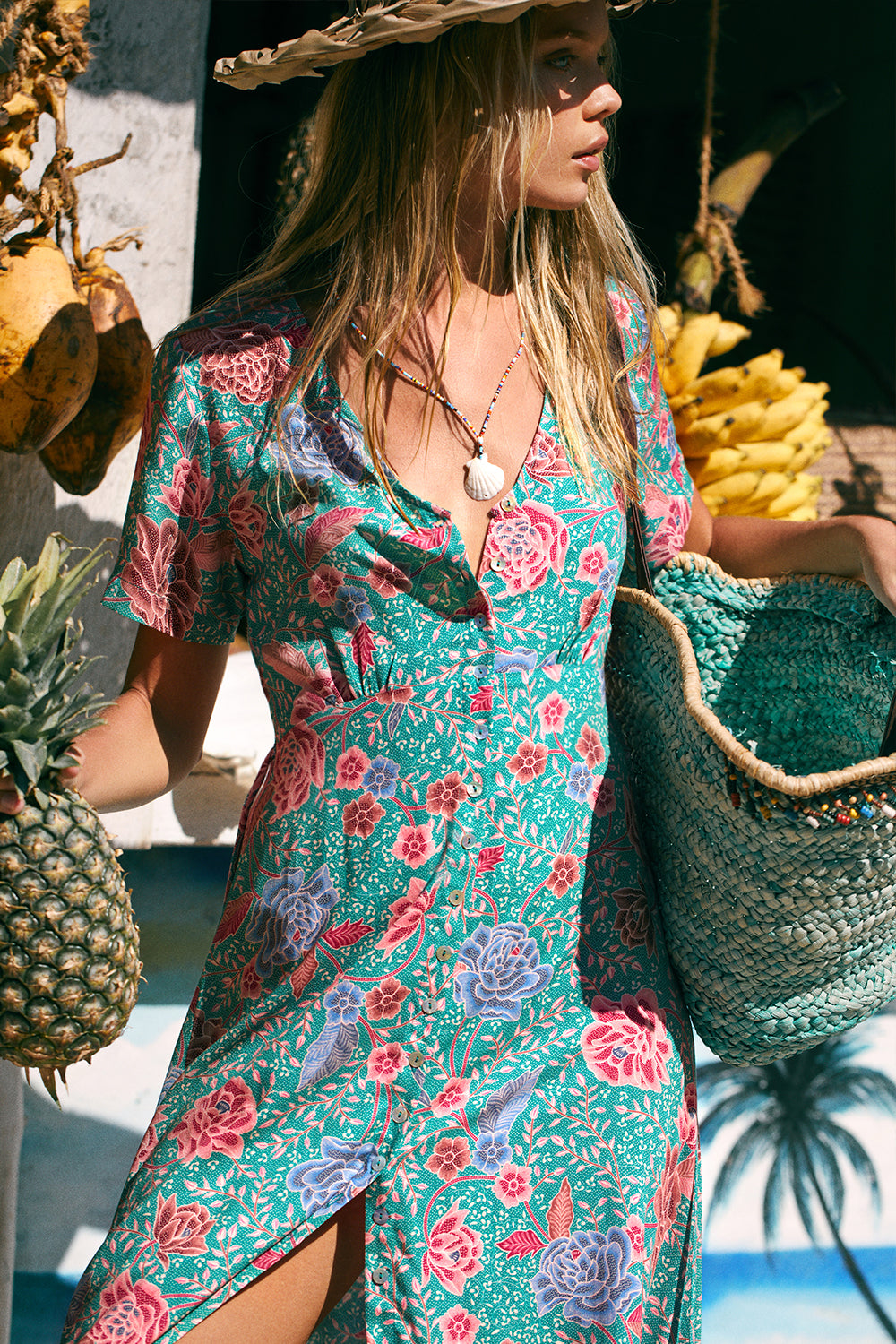 Leilani Sundress in Palms