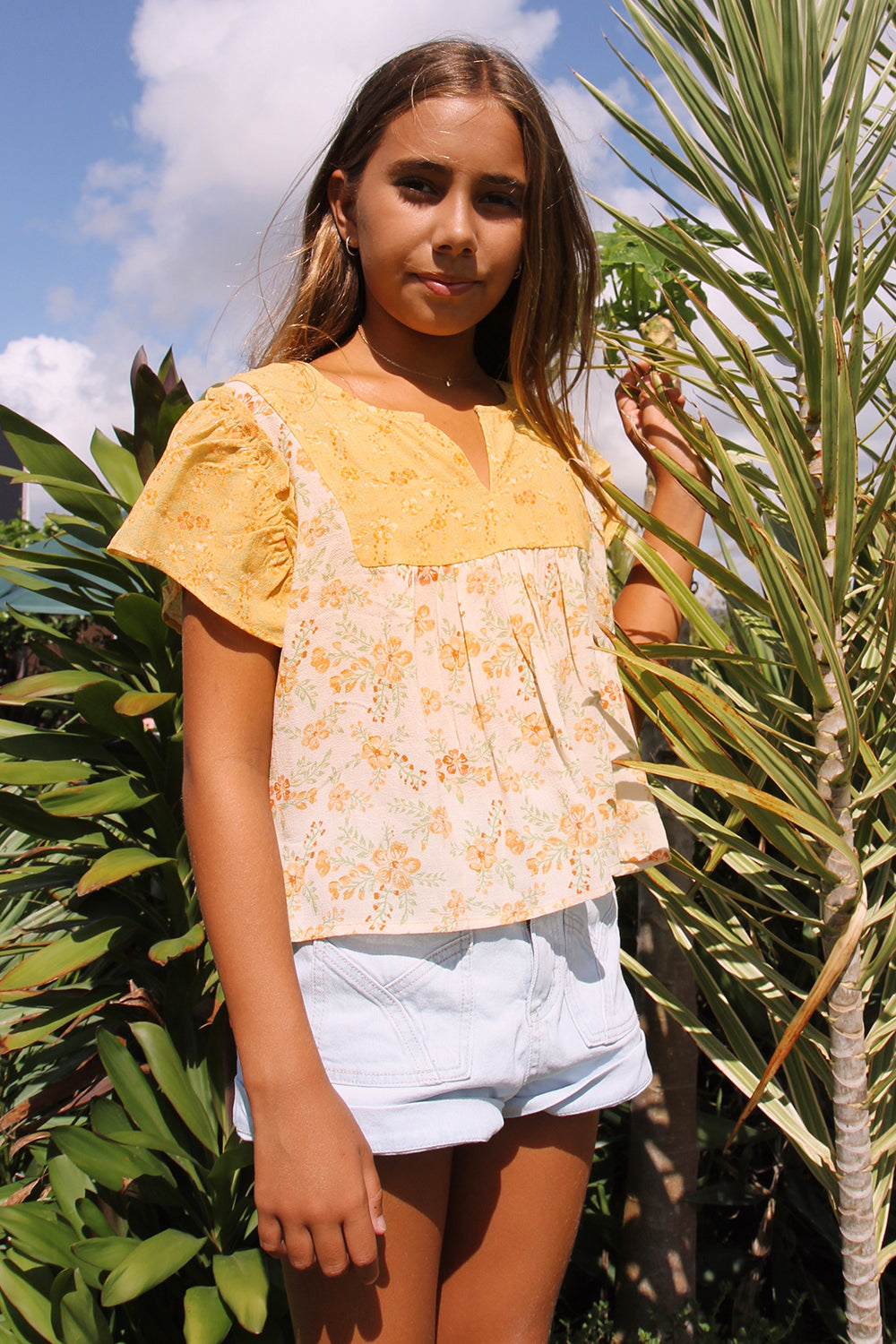 Lily Littles Top in Lemon Drop