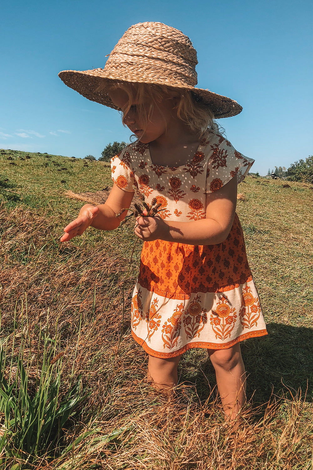 Soriah Kiddies Dress in Marmalade