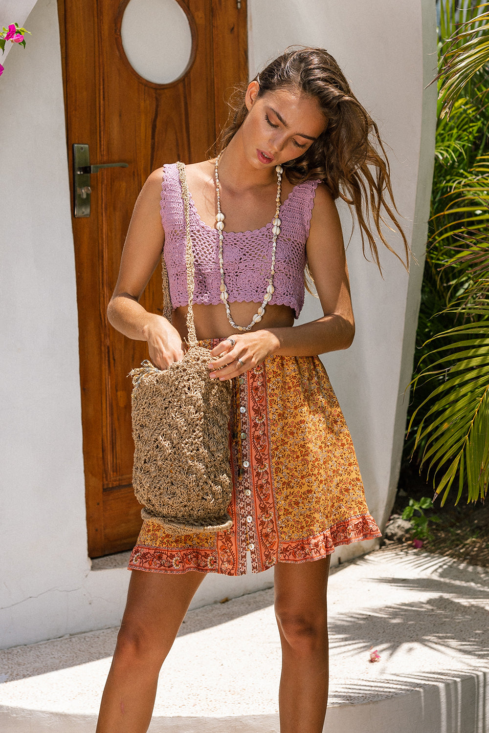 Island Mini Skirt in Mimosa