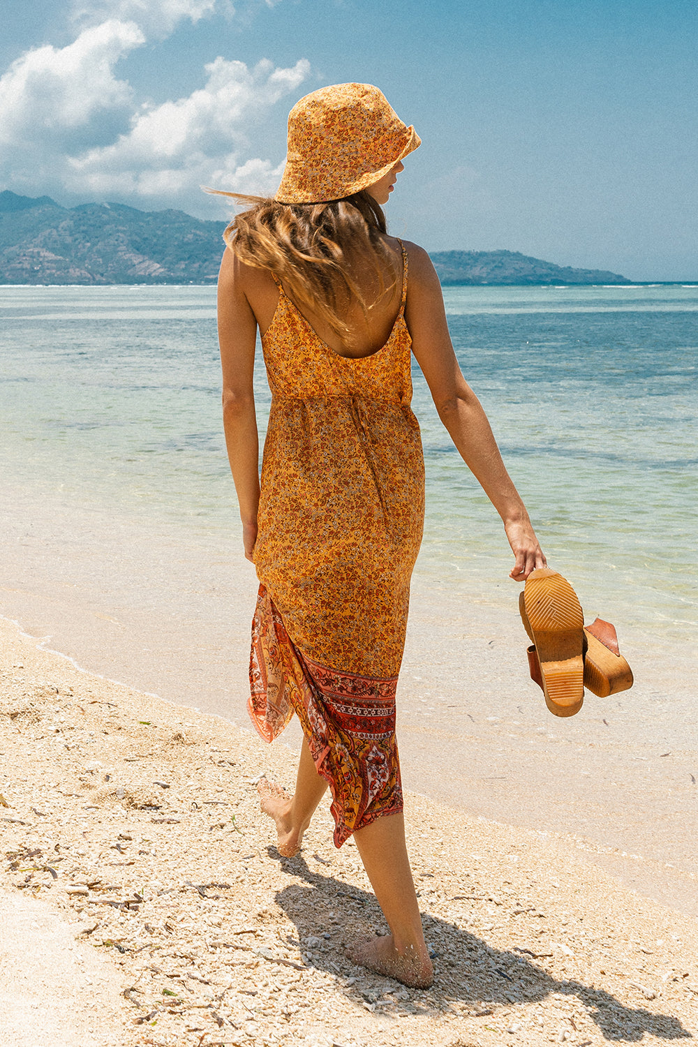 Island Slip Dress in Mimosa