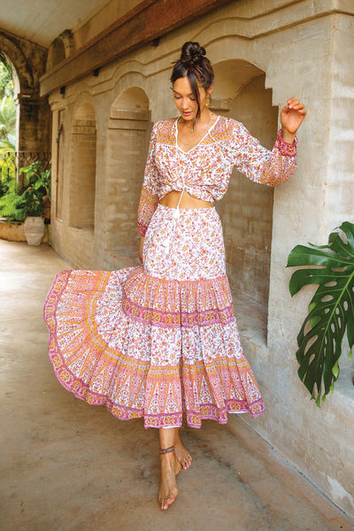 Lucia Skirt in Desert Rose