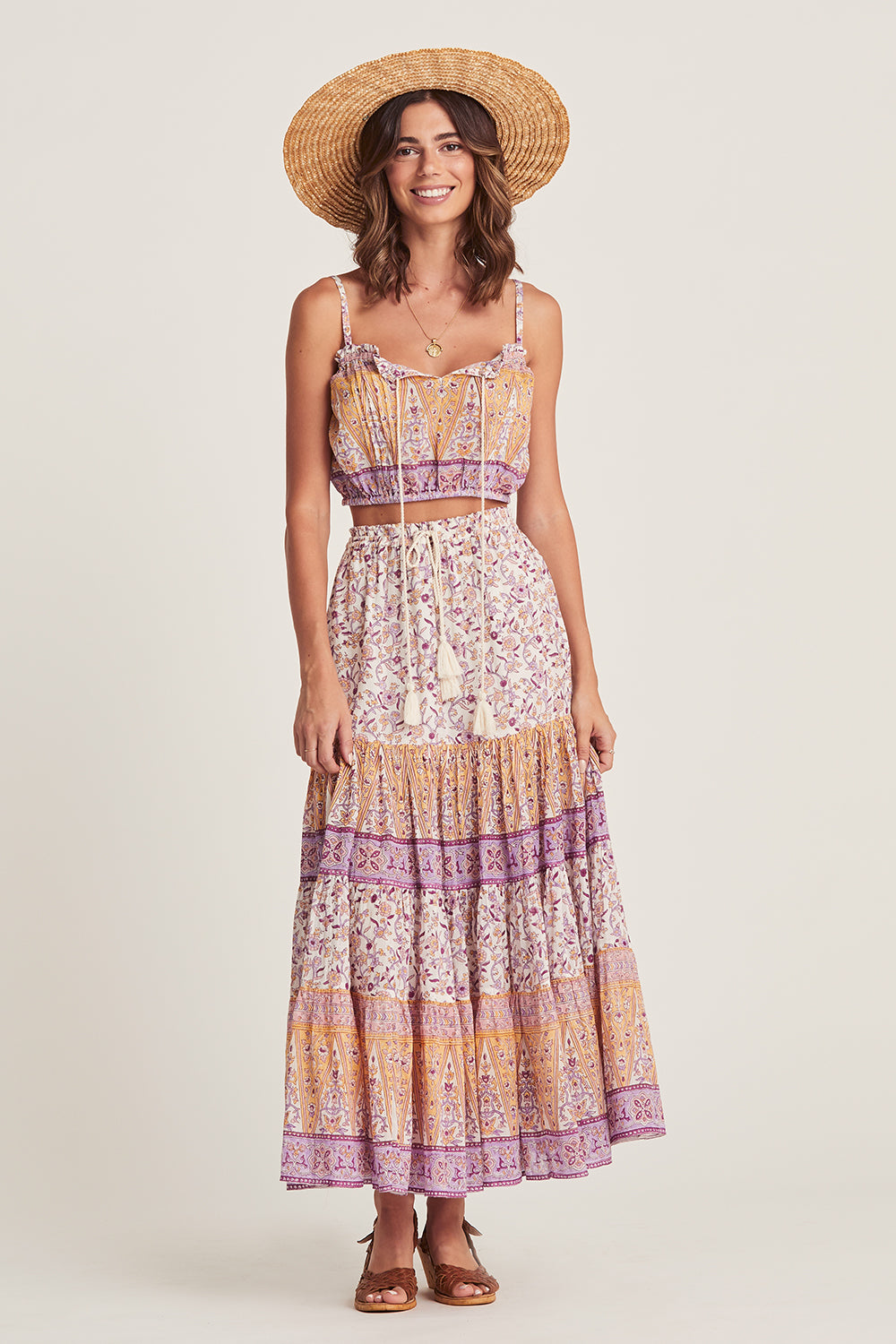 Lucia Maxi Skirt in Lilac