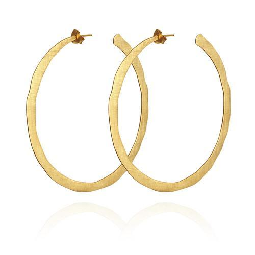 Temple of the Sun ~ Large Hoop Earrings Gold