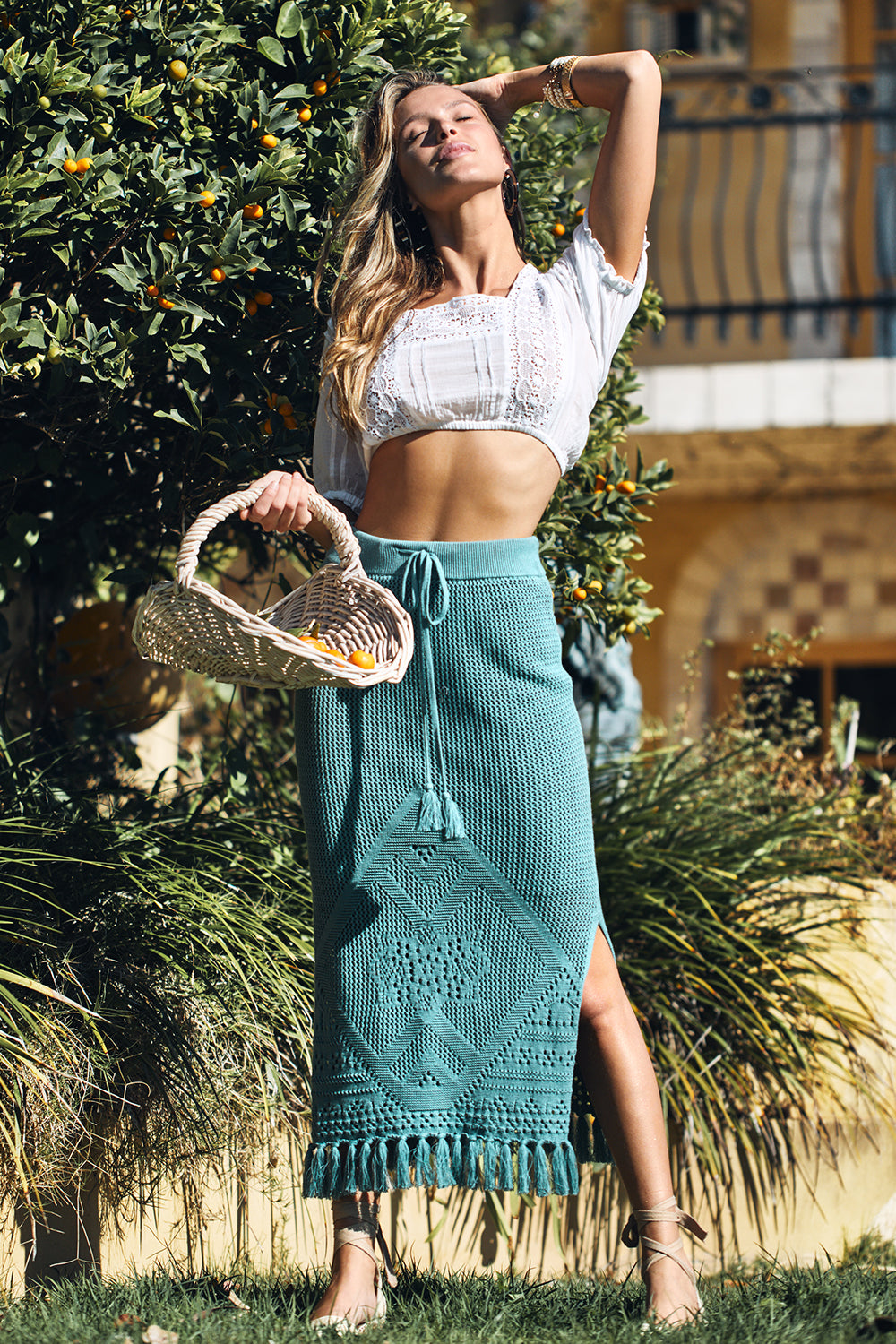 Madox Skirt in Aegean