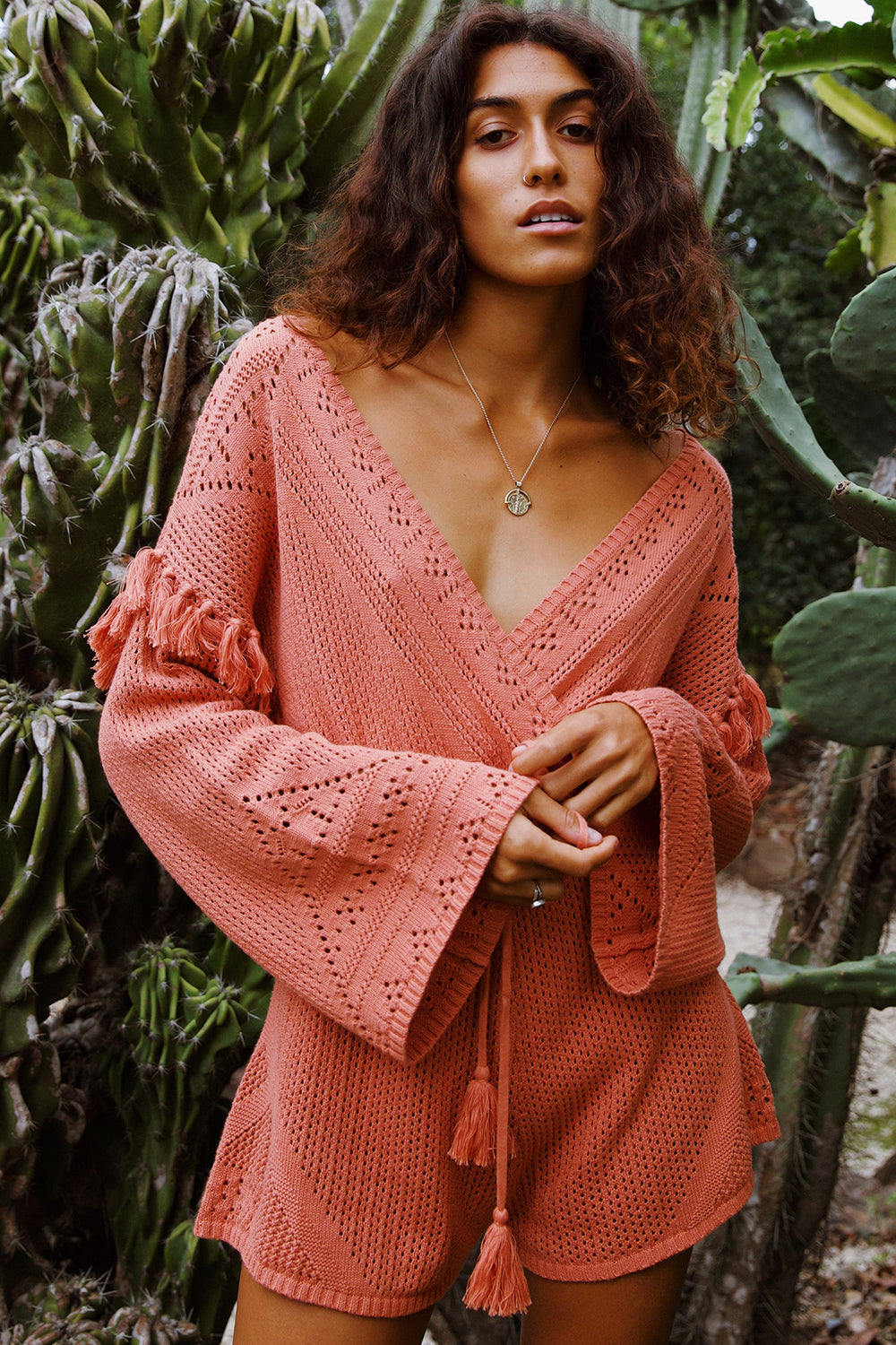 Madox Playsuit in Terracotta