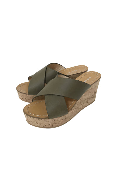 Marnie Cork Wedge in Khaki