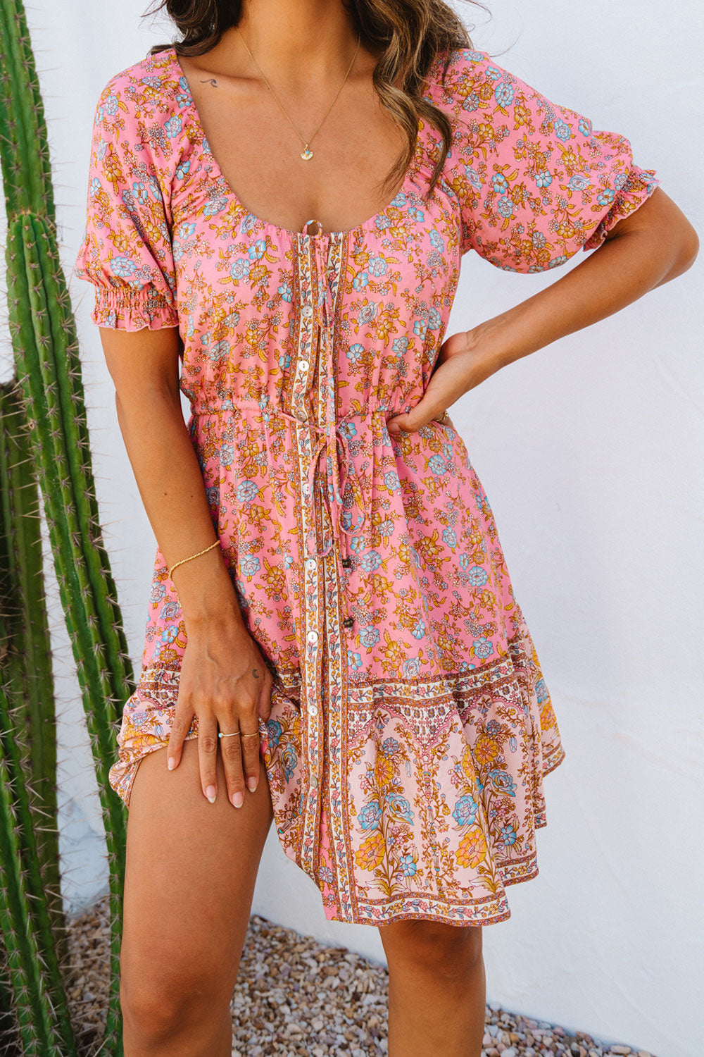 Honey Mini Dress in Rosé
