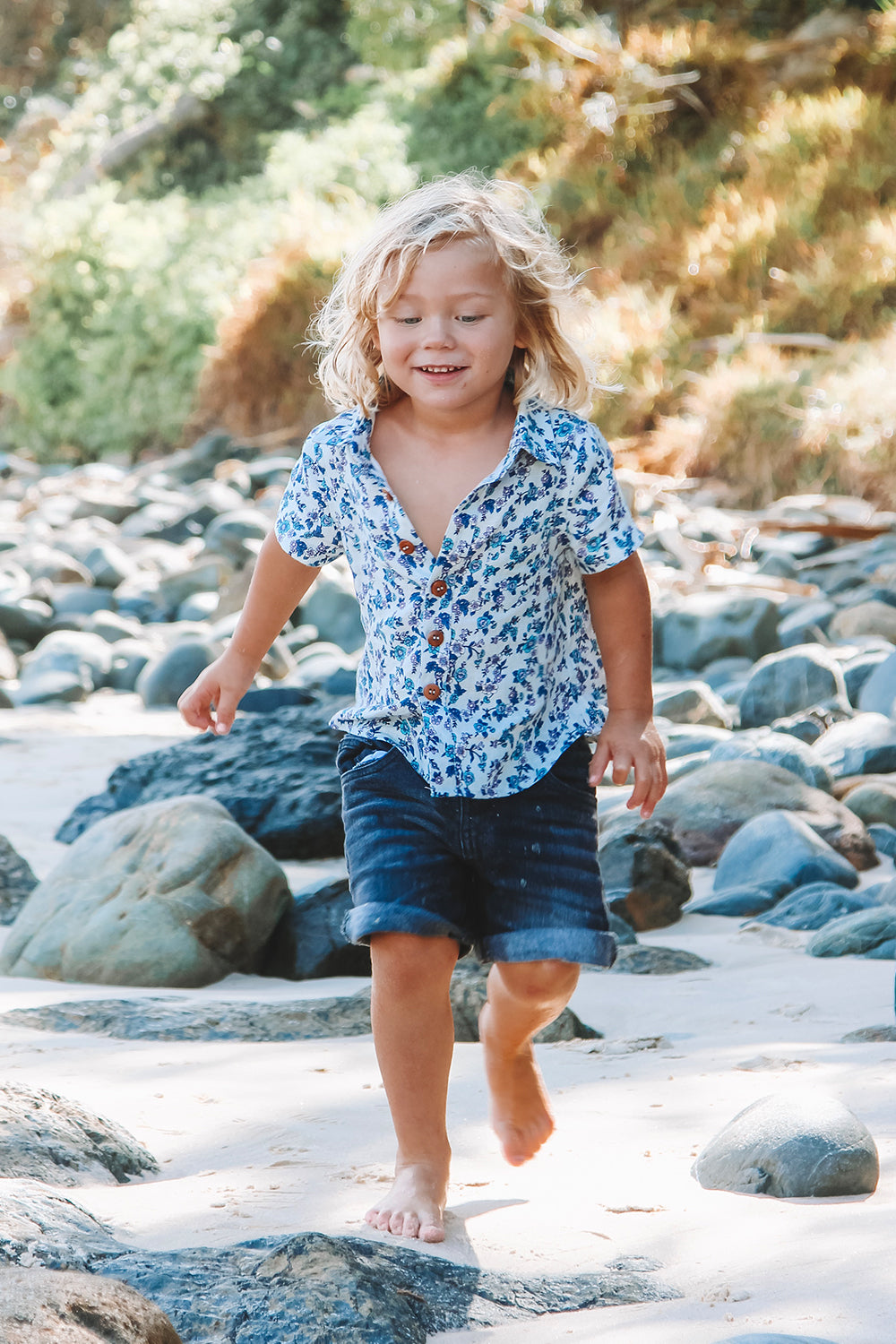 Camilla Kiddies Shirt in Dusty Blue