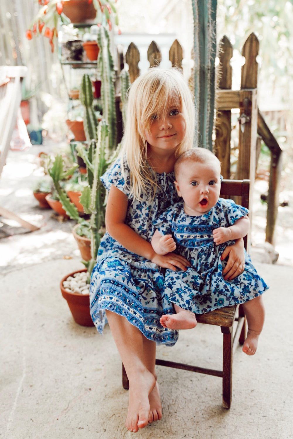 Camilla Kiddies Dress in Bluebird
