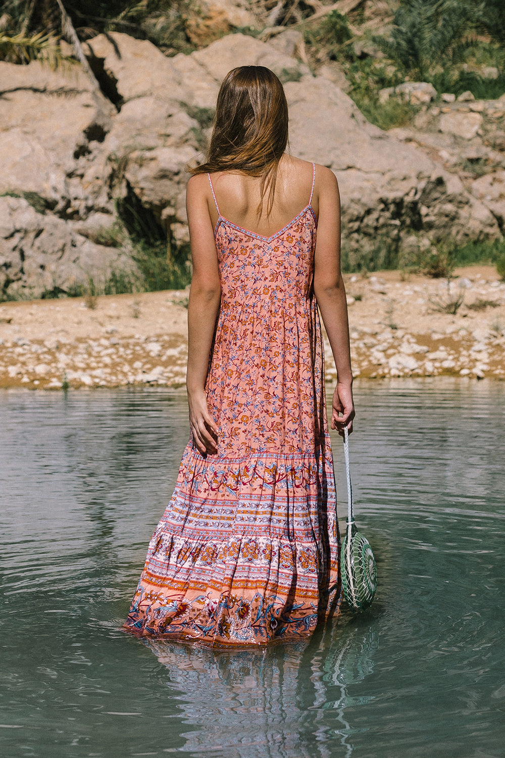 Camilla Sundress in Coral Seas