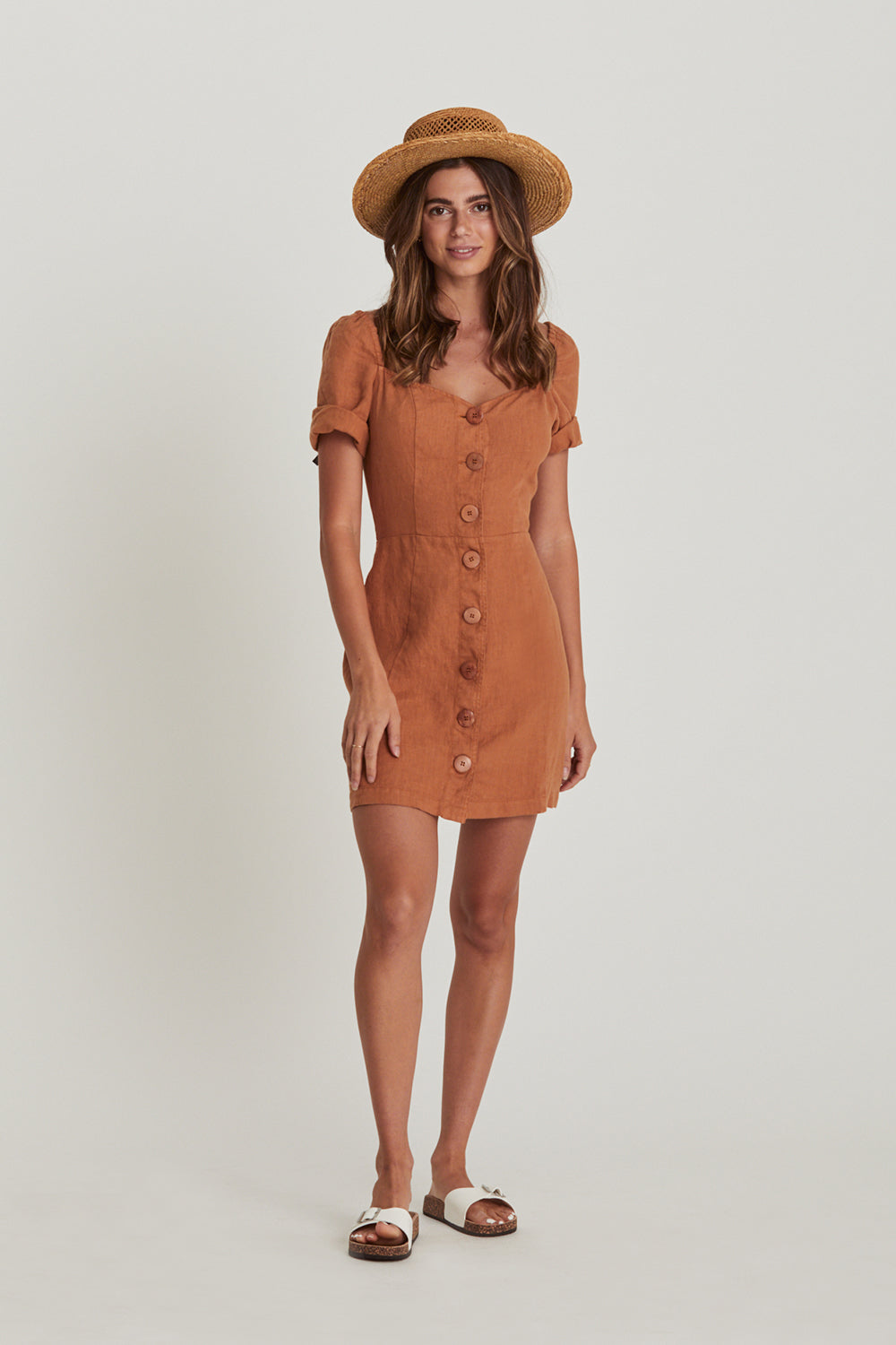 Chloe Mini Dress in Bronze