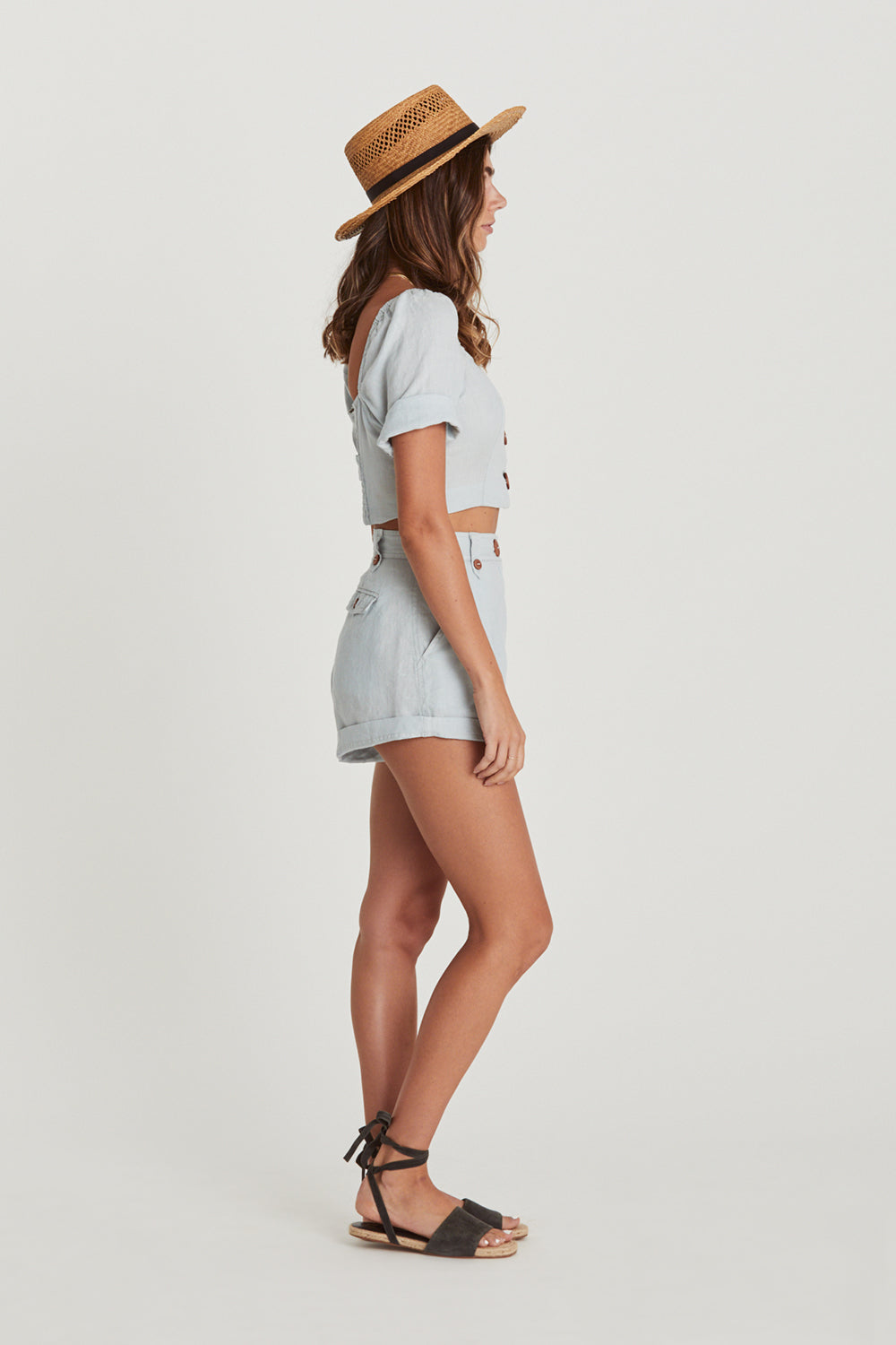 Chloe Shorts in Skyla