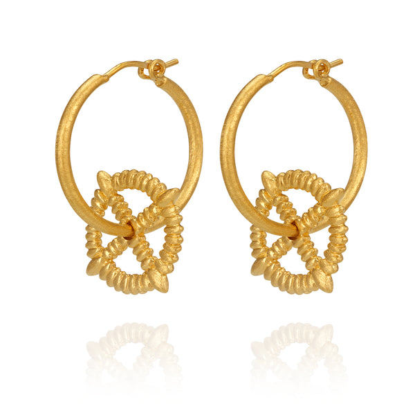 Temple of the Sun ~ Mira Earring Gold