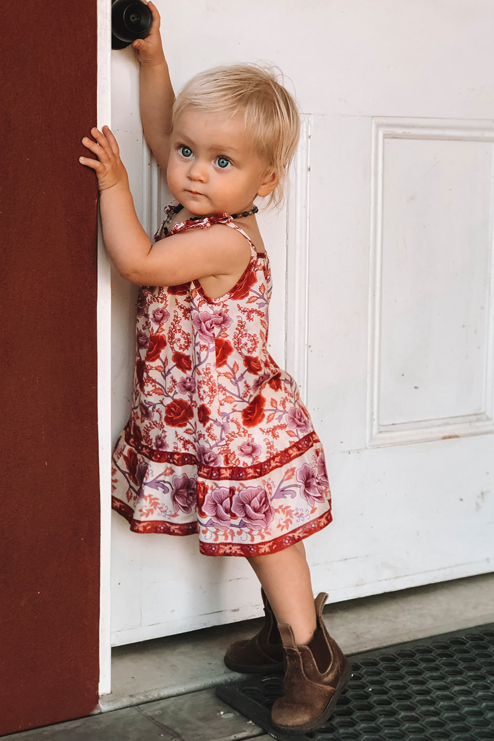 Muse Baby Dress in Roseto