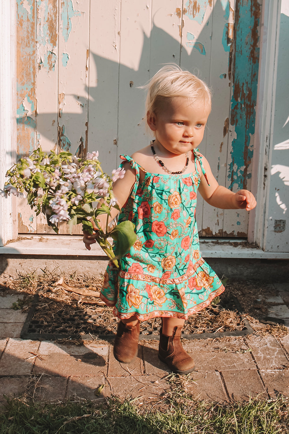 Muse Baby Dress in Verde