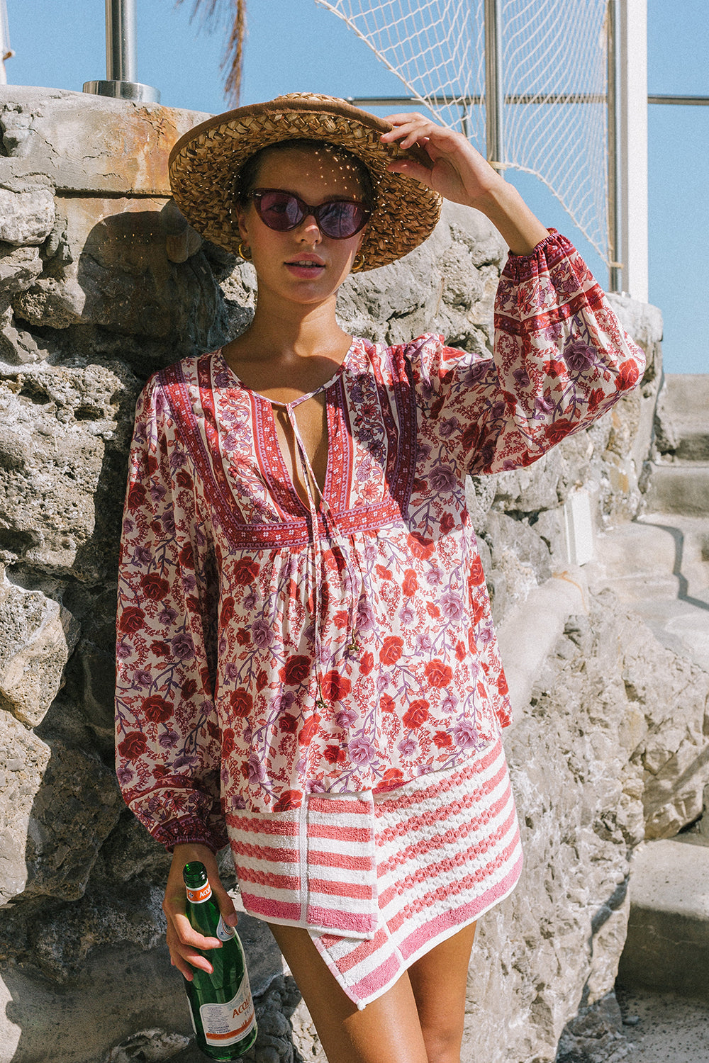 Muse Blouse in Roseto