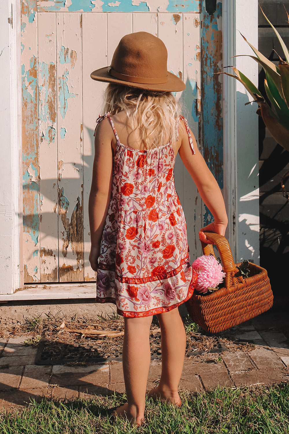 Muse Kiddies Dress in Roseto
