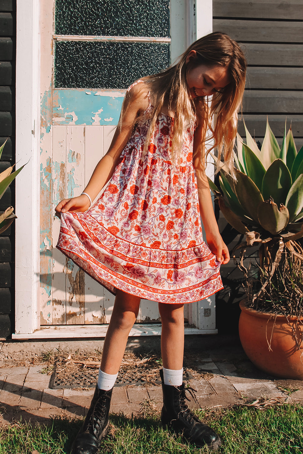 Muse Littles Dress in Roseto