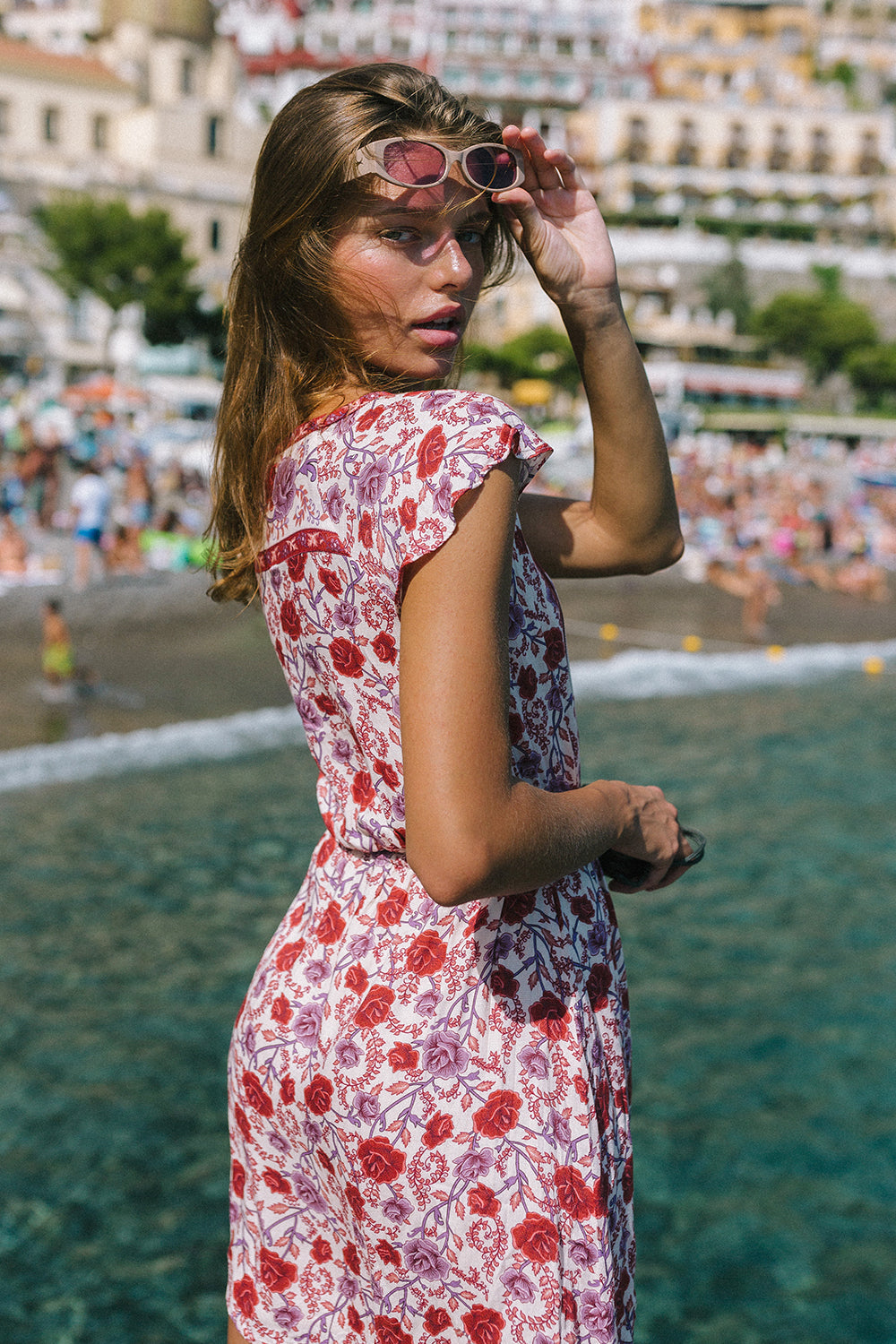 Muse Mini Dress in Roseto