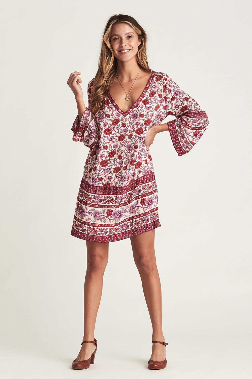 Muse Kaftan Dress in Roseto