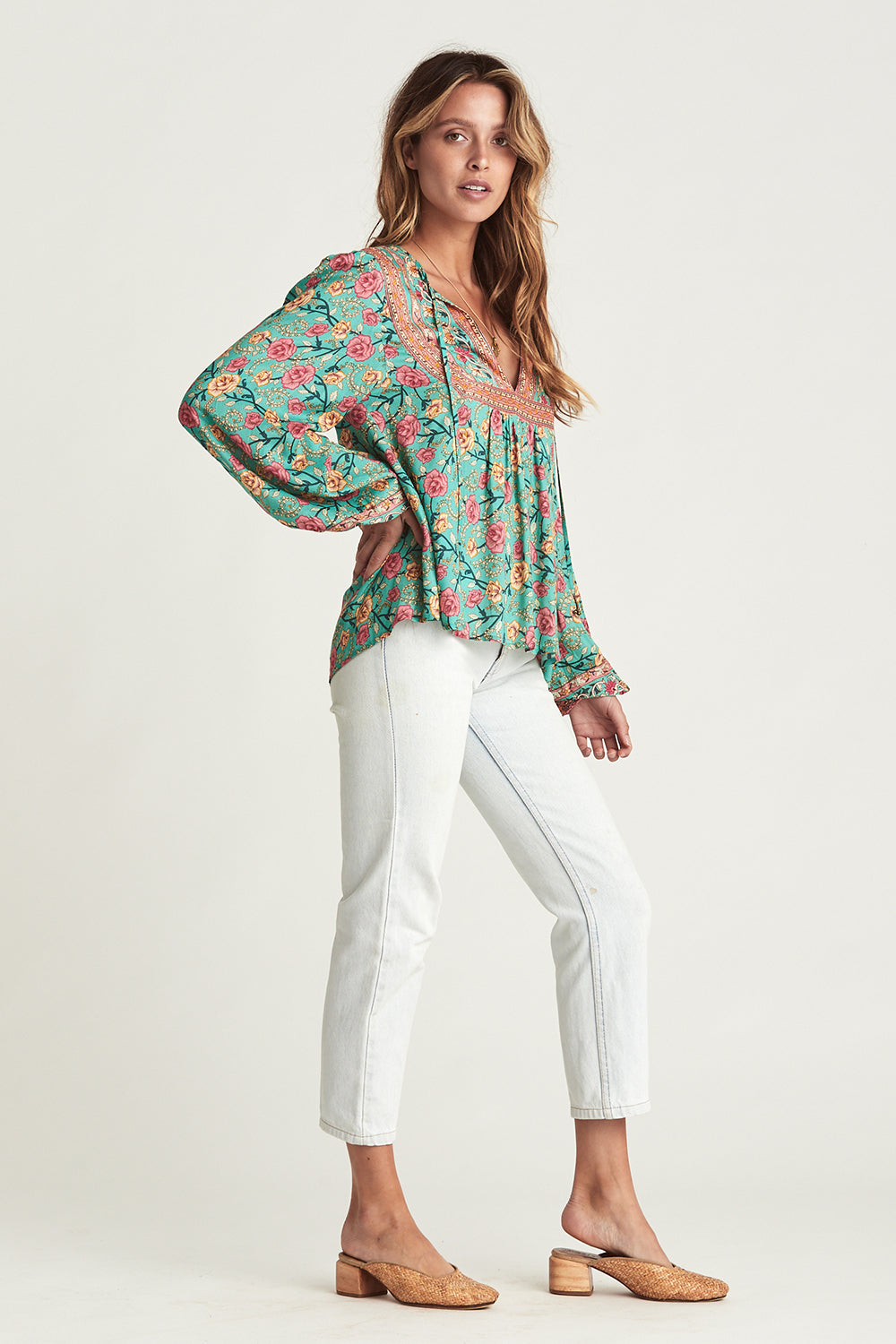 Muse Blouse in Verde