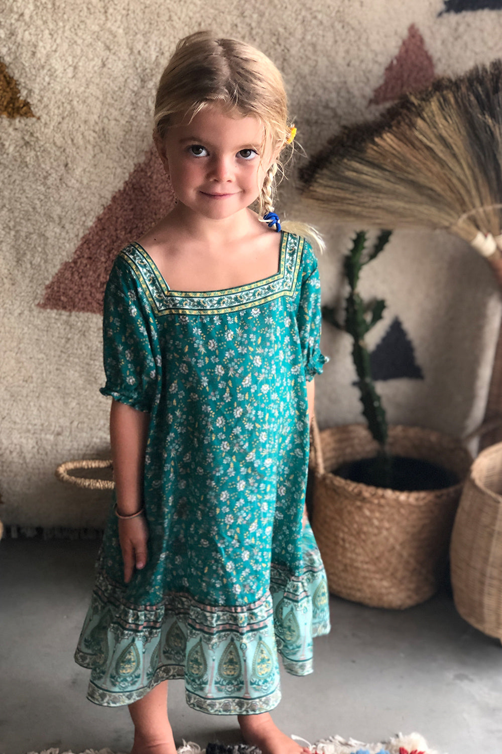 Nastassia Kiddies Dress in Mint
