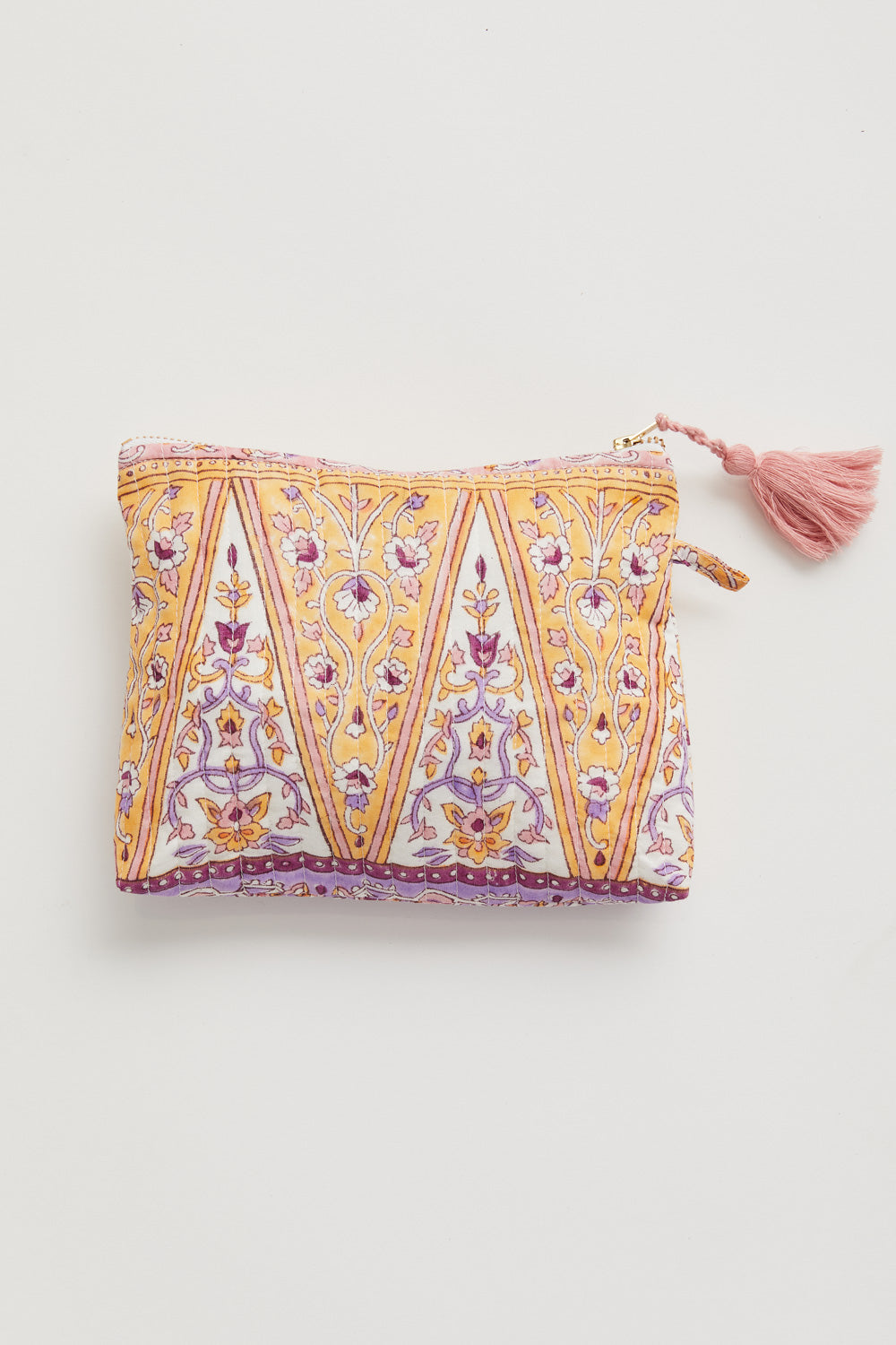 Lucia Pouch in Lilac Border