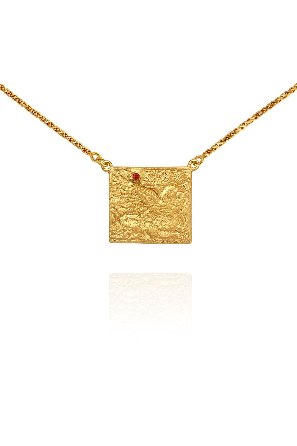 Temple of the Sun ~ Pheonix Necklace Gold