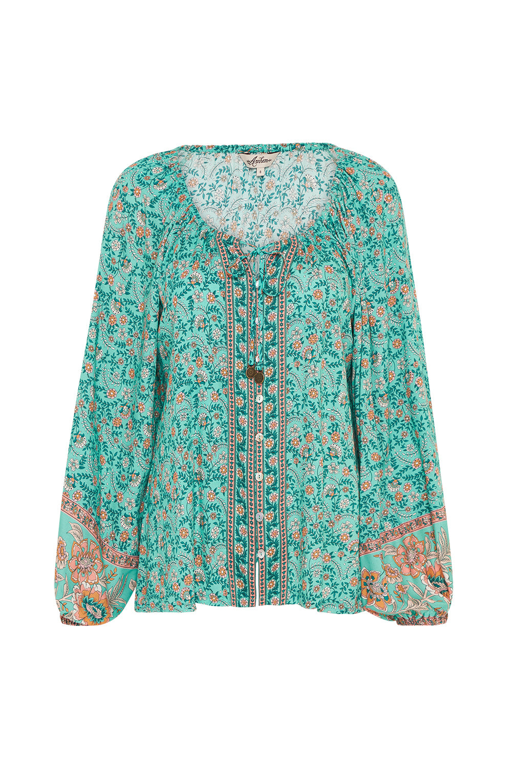Fleetwood Blouse in Greenfields