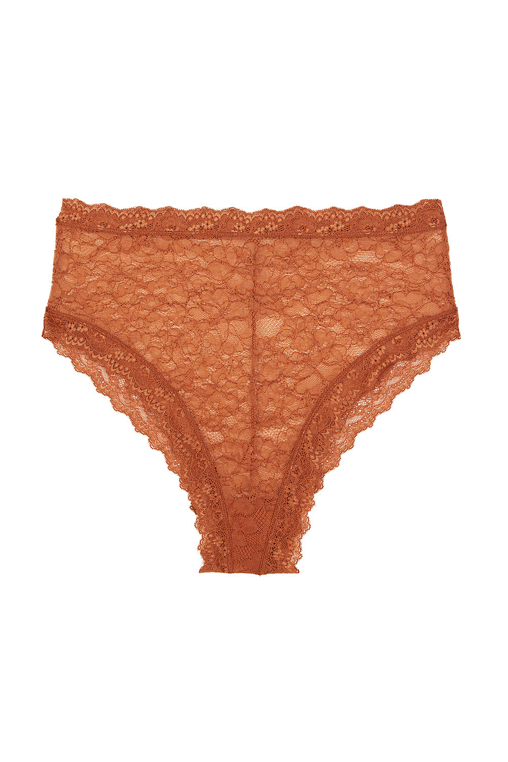 Faith Hi Waist Knickers in Rust