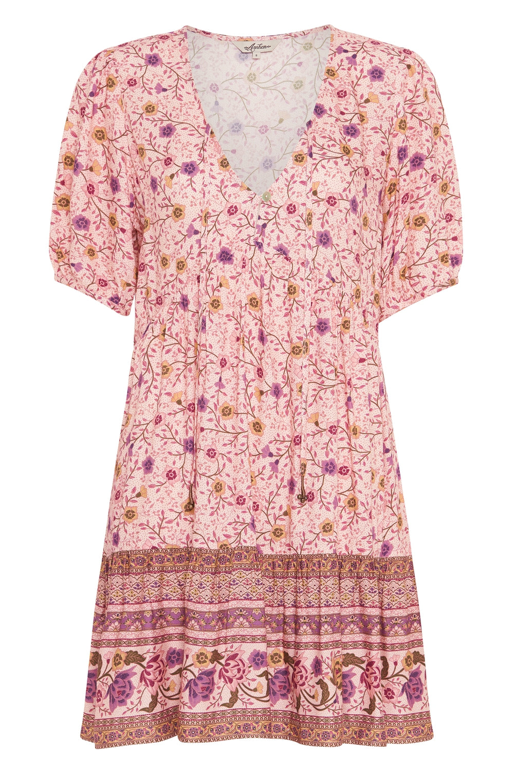 Soleil Mini Dress in Pink Jasmine