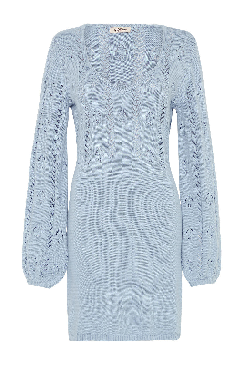 Gardenia Mini Dress in Powder Blue
