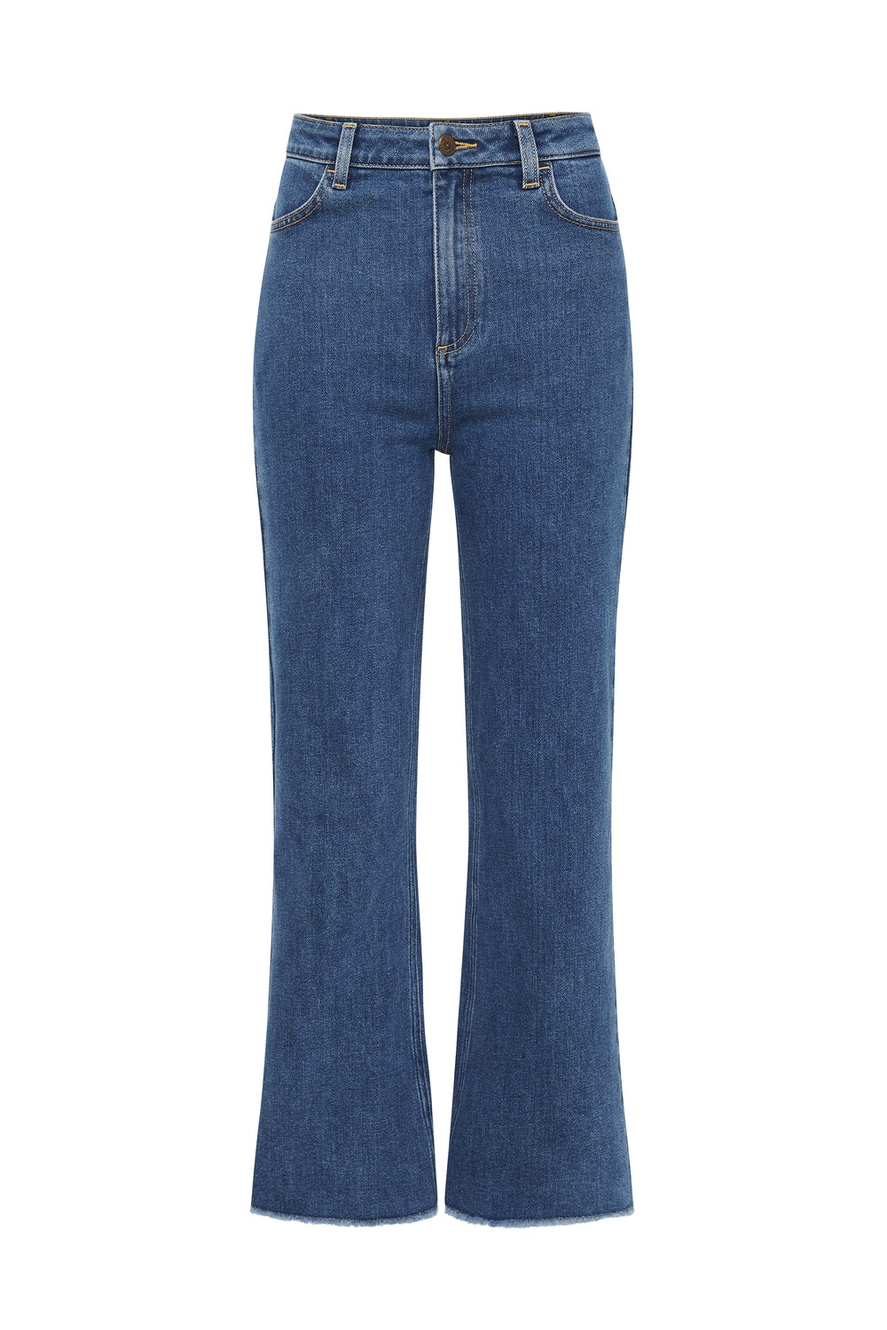 Hideaway Cropped Jeans in Vintage Blue