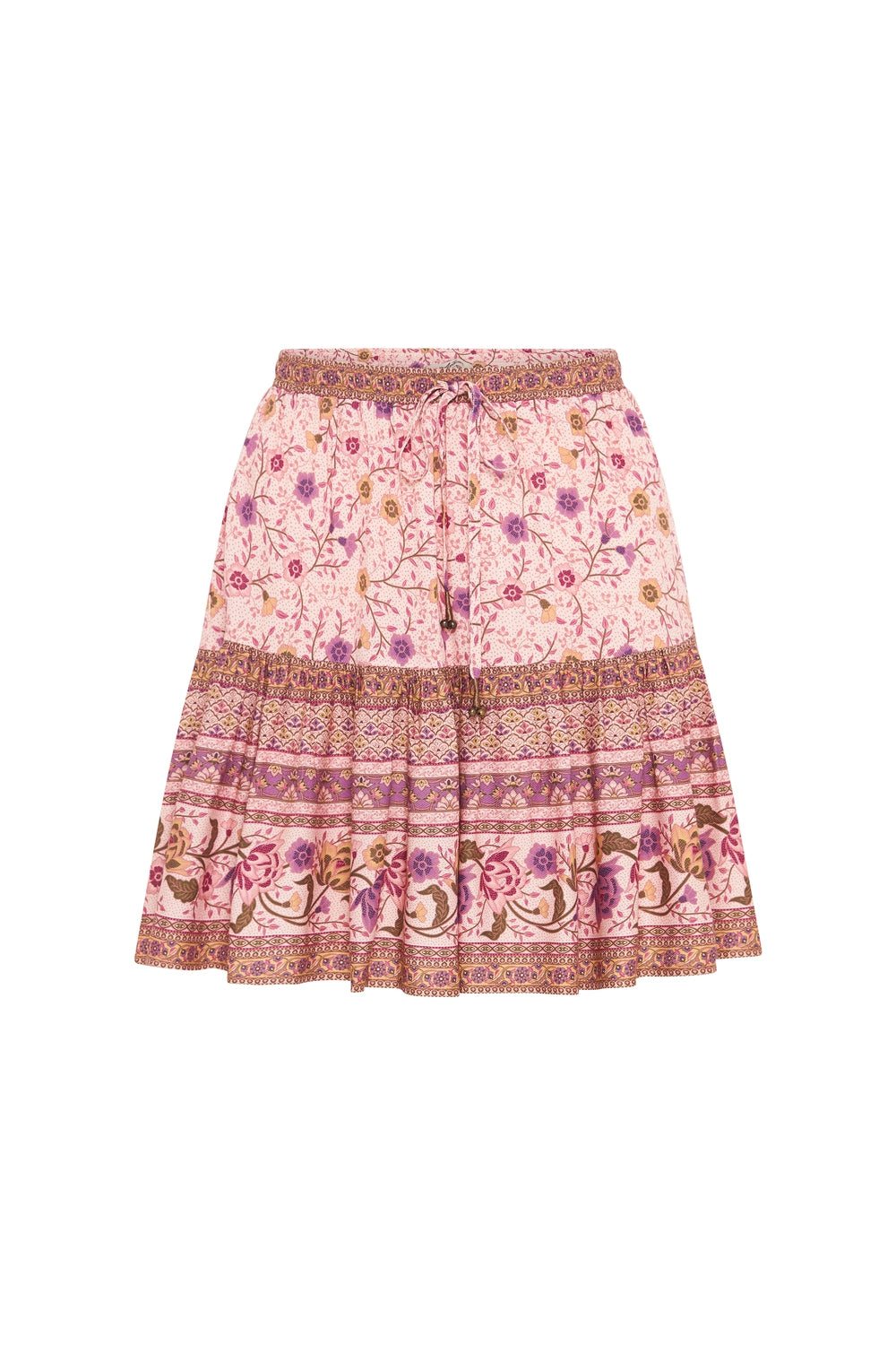 Soleil Mini Skirt in Pink Jasmine