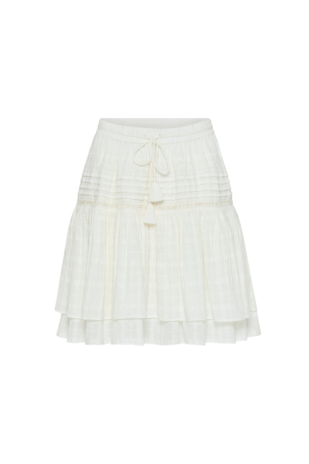 Ava Mini Skirt in Snowdrop
