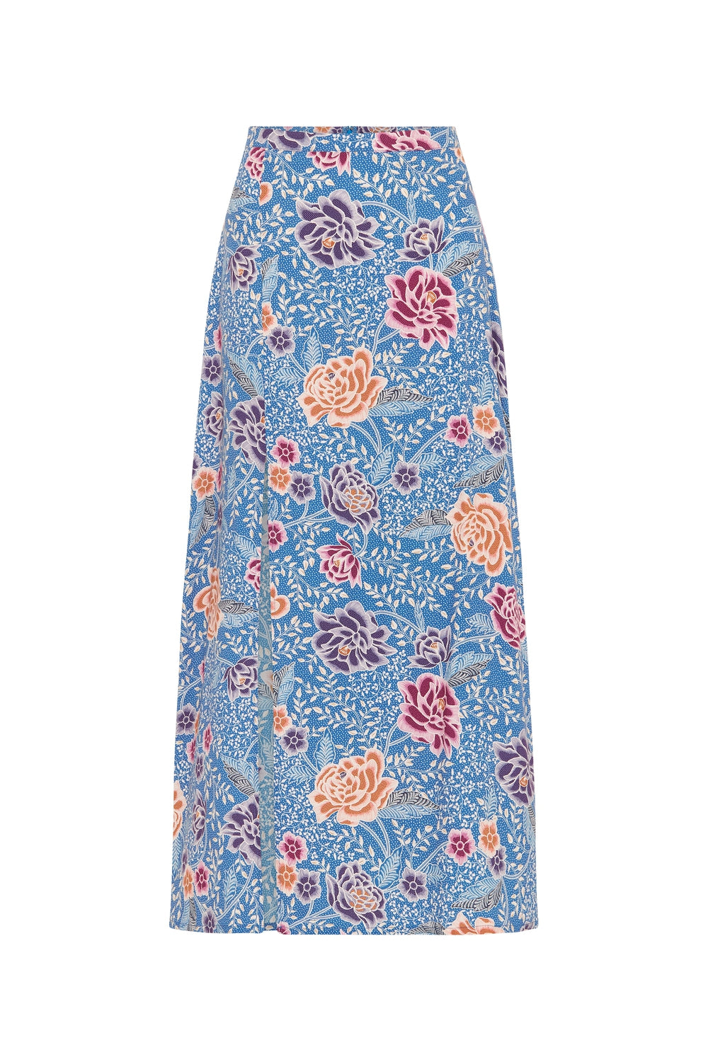 Leilani Midi Skirt in Floral Reef
