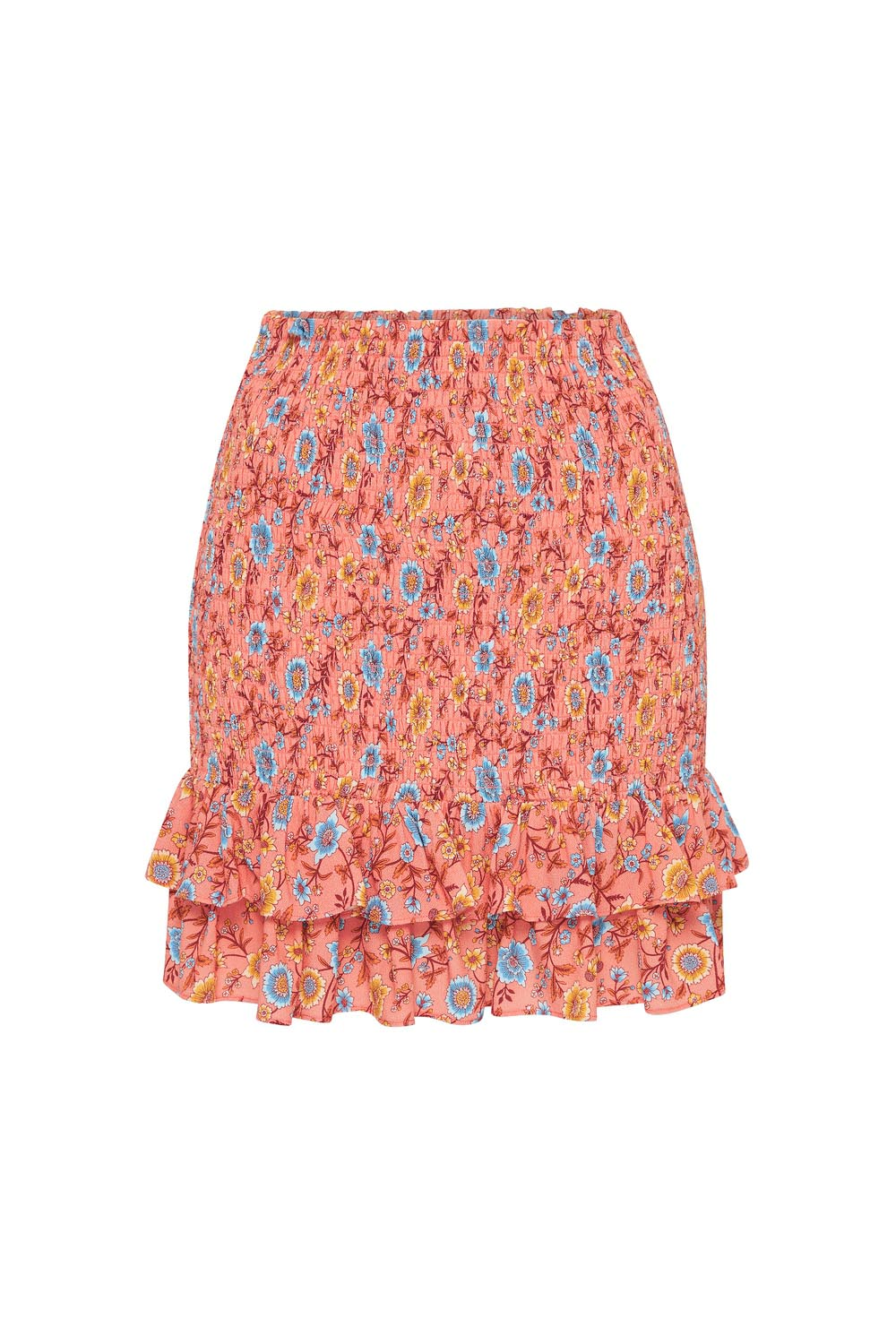 Bijoux Mini Skirt in Coral
