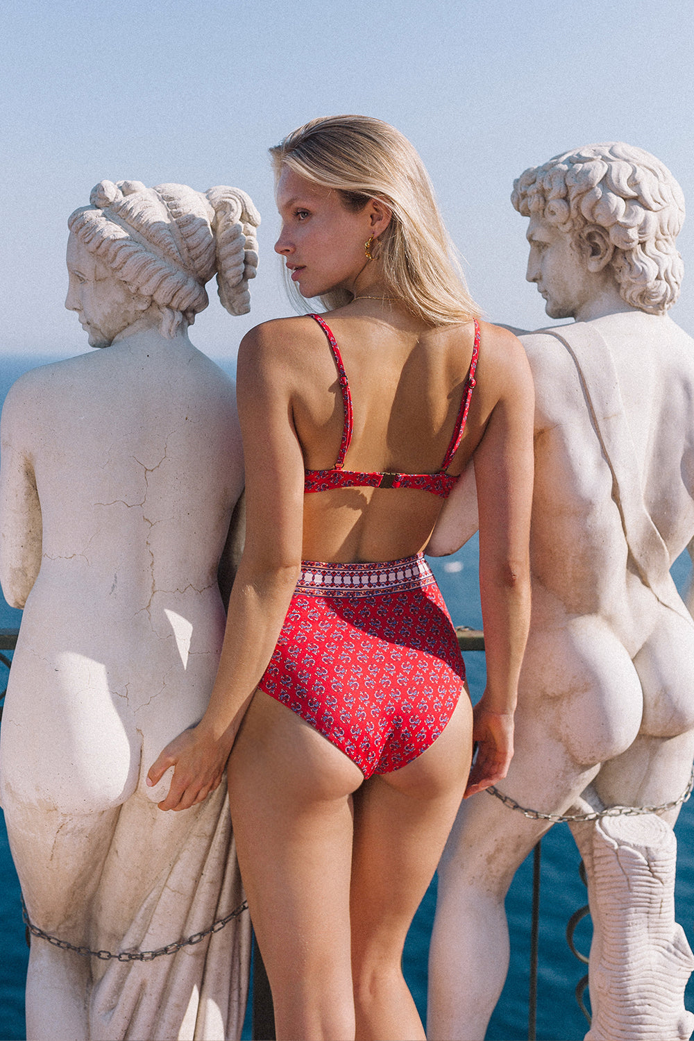 Serafina Balconette Bikini in Crimson Skies