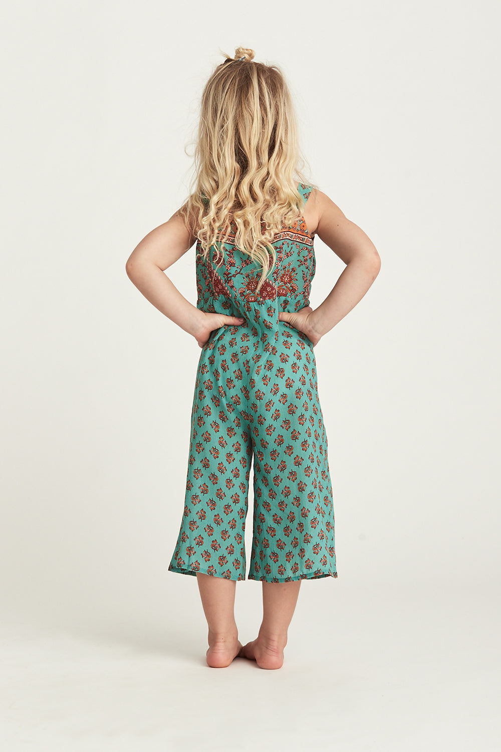 Serafina Kiddies Jumpsuit in Kingfisher