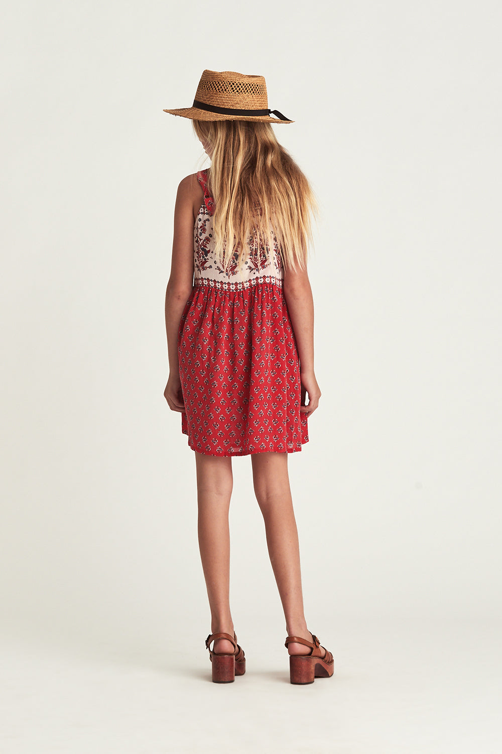 Serafina Littles Dress in Crimson Skies