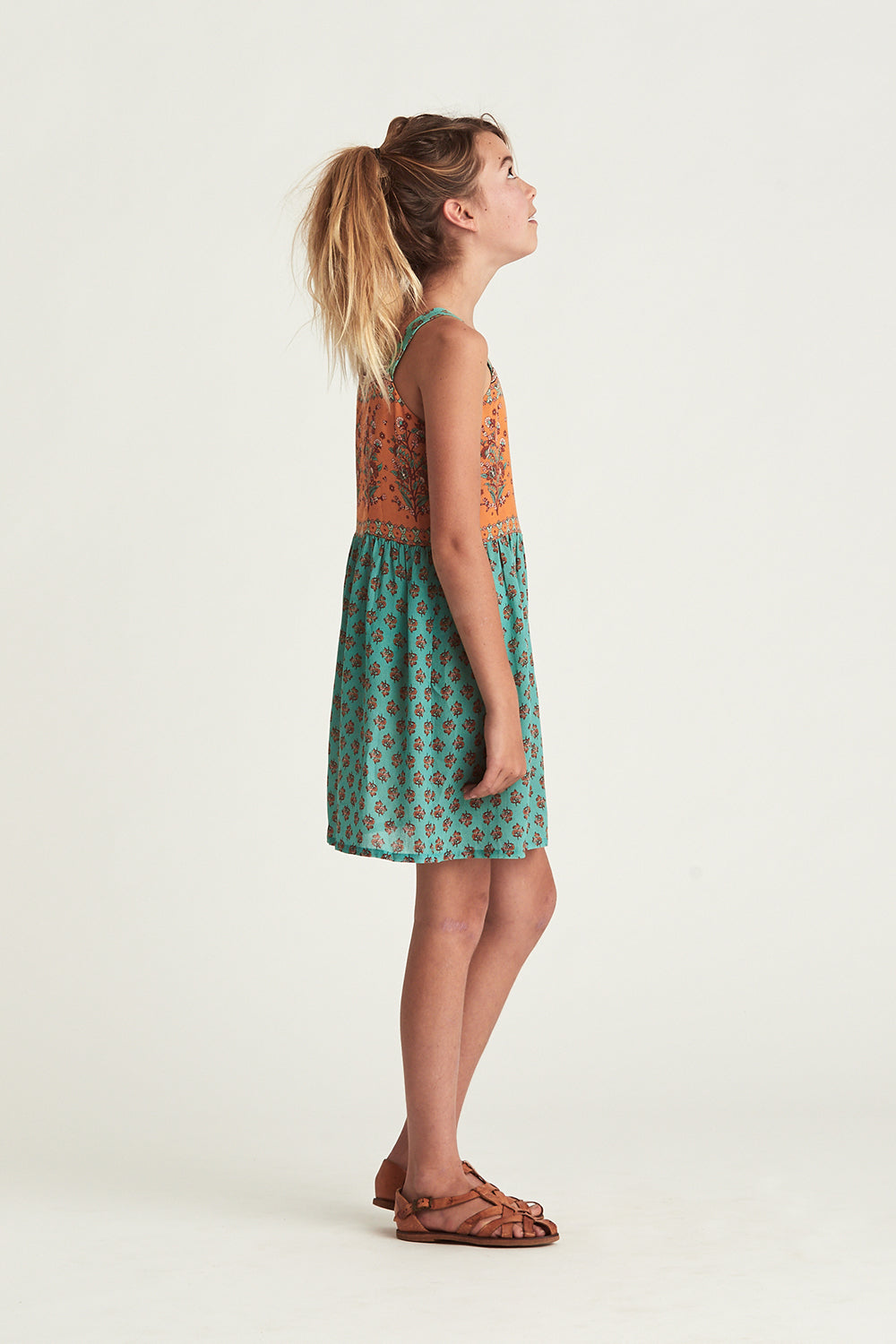 Serafina Littles Dress in Kingfisher