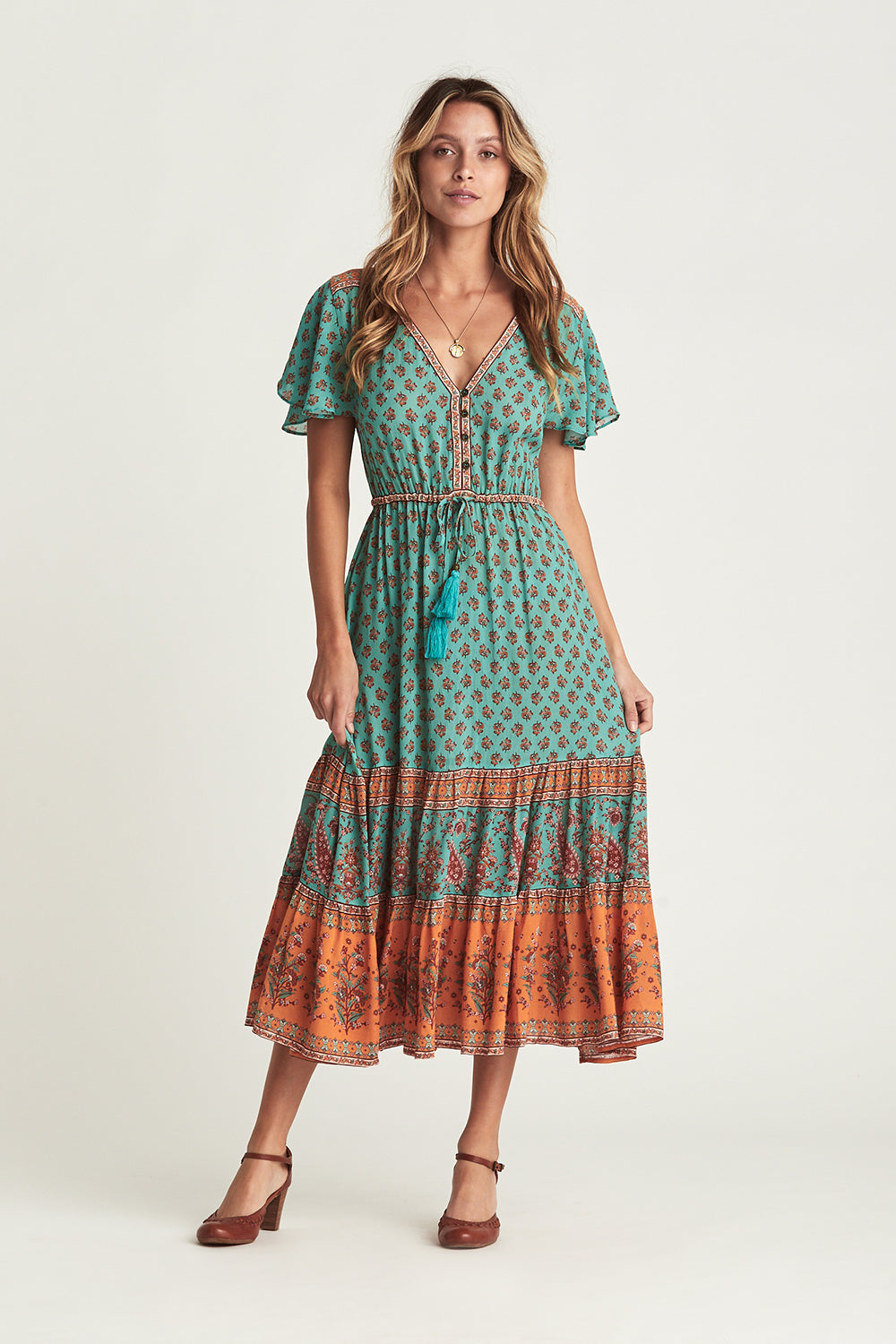 Serafina Sundress in Kingfisher