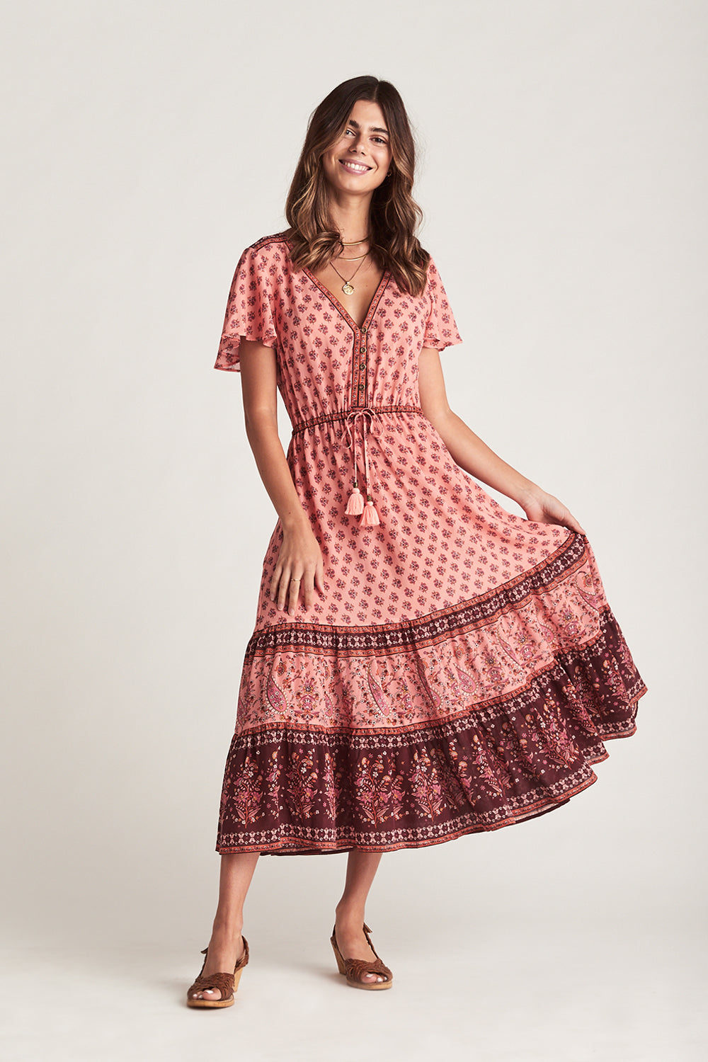 Serafina Sundress in Sweet Cherry