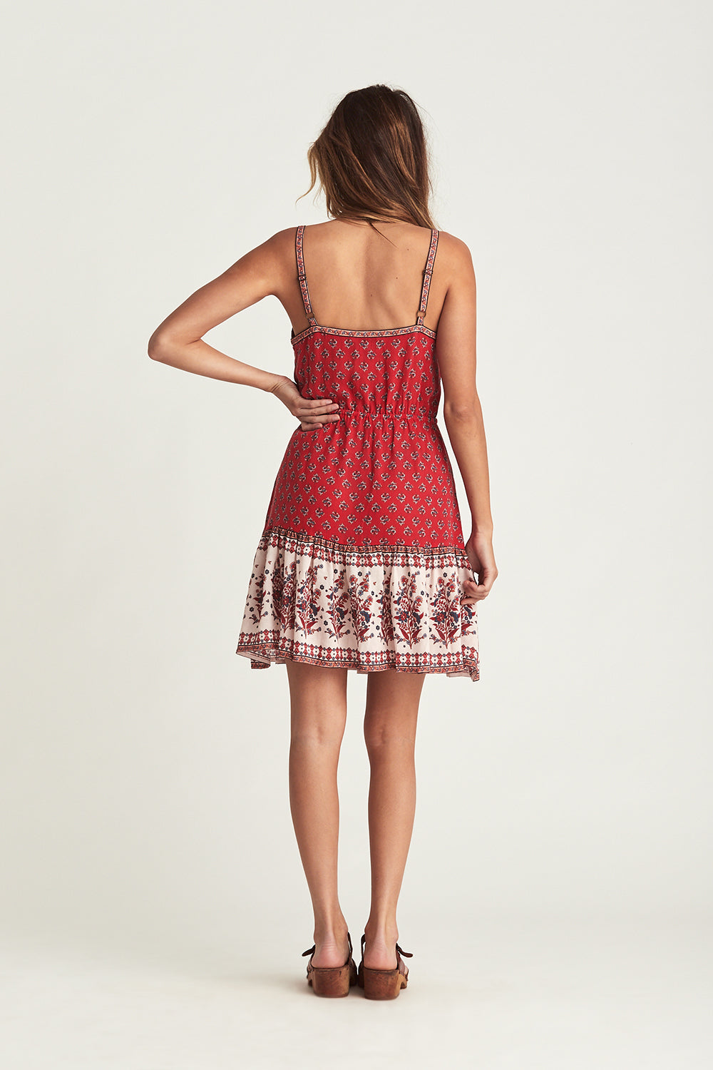 Serafina Mini Dress in Crimson Skies