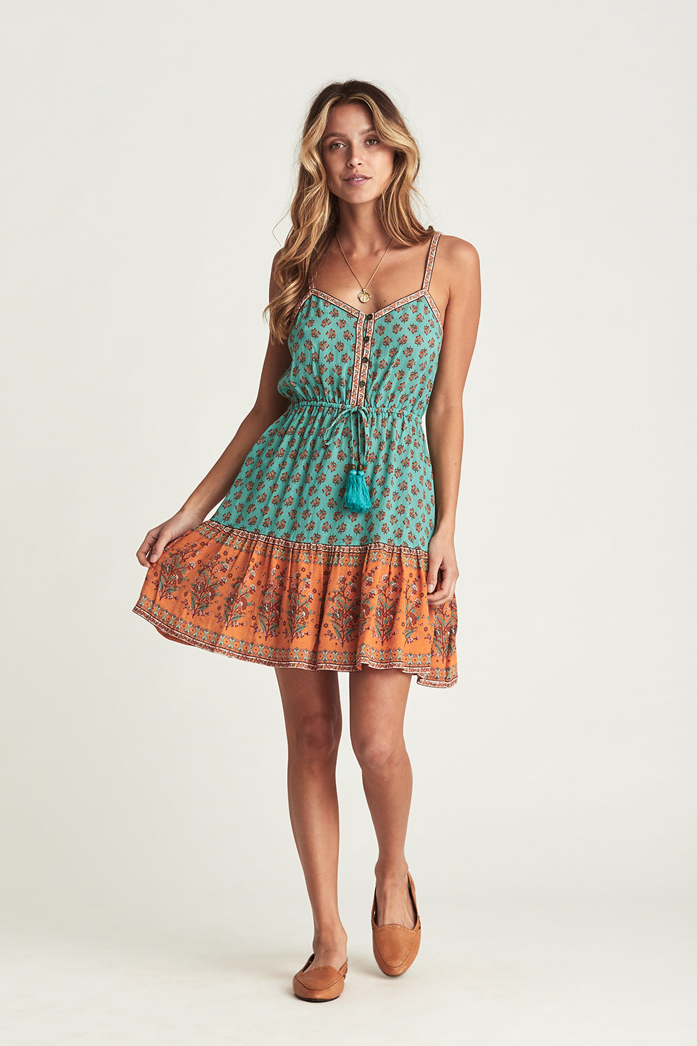 Serafina Mini Dress in Kingfisher