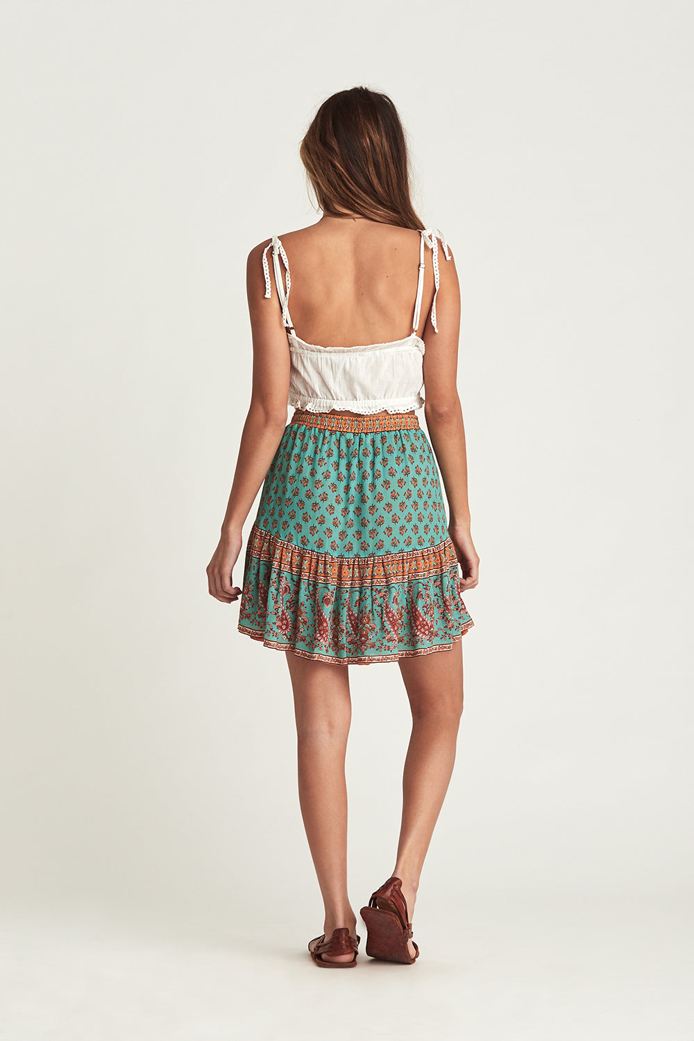 Serafina Mini Skirt in Kingfisher