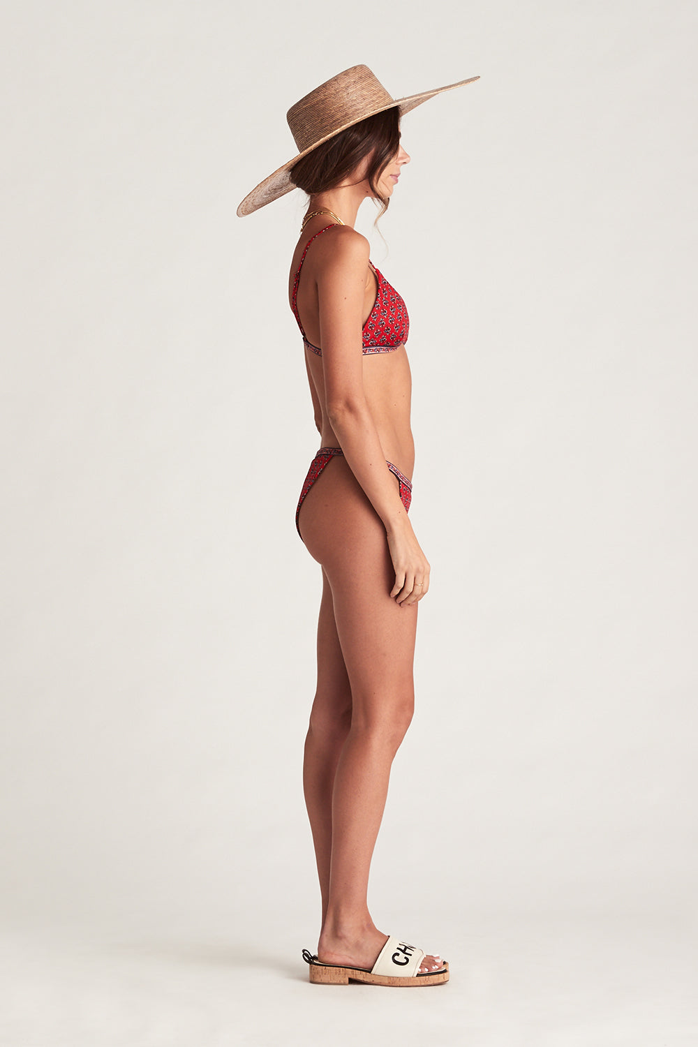 Serafina Tri Bikini in Crimson Skies