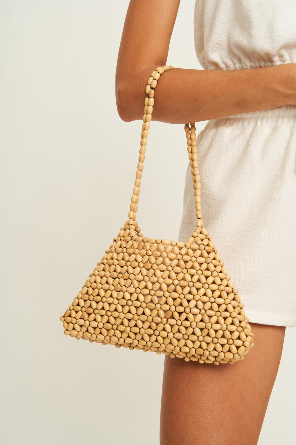 Coco Beaded Bag in Natural